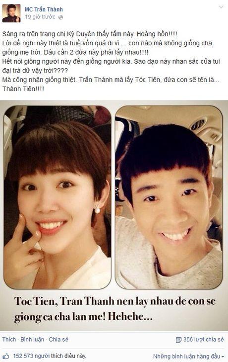 "MC Ky Duyen lam ""ba mai"" cho Tran Thanh va Toc Tien - Anh 2"