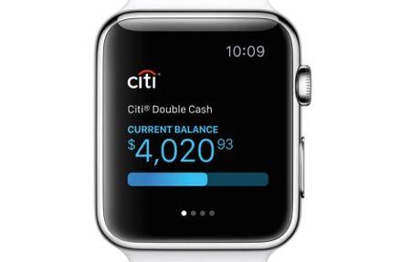 Citi ra mat ung dung ngan hang truc tuyen tren Apple Watch - Anh 1