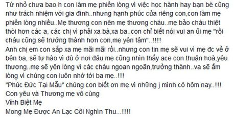 Thanh Trung tam su cam dong ve me khien fans roi nuoc mat - Anh 2