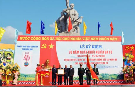 Le ky niem 70 nam Ngay Khoi nghia Ba To - Anh 1