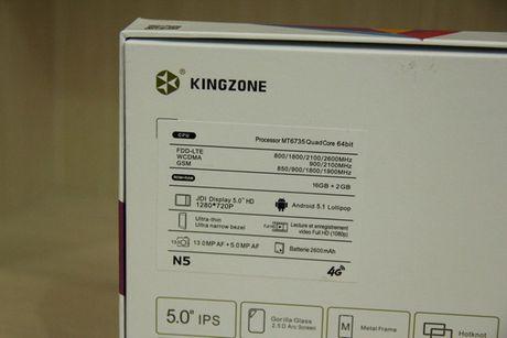 Kingzone N5: Smartphone RAM 2 GB tam gia 4 trieu dong - Anh 8