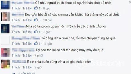 Cao Thai Son bi 'nem da' vi chup anh dang facebook trong dam tang - Anh 6