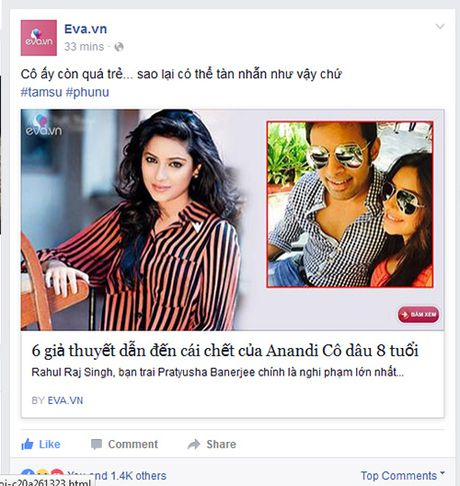 """Fan Viet tiec thuong su ra di cua Anandi """"Co dau 8 tuoi"""" - Anh 1"""