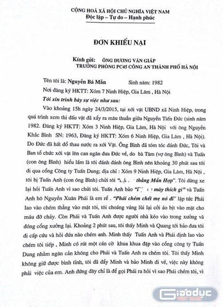 Nhung bat thuong trong ket luan dieu tra vu an xay ra tai Ninh Hiep - Anh 2