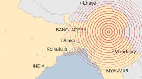 Dong dat 6,9 do Richter rung chuyen Myanmar - Anh 1