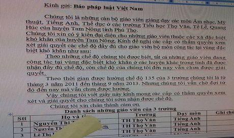 Tam Nong, Phu Tho: Giao vien vung dac biet kho khan khong duoc uu dai? - Anh 1