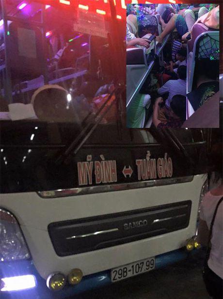 Chuyen xe 'am phu' 42 cho nhoi 103 khach vuot deo Tay Bac - Anh 1