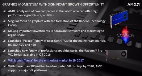 AMD xac nhan bo xu ly do hoa Vega 10 se duoc gioi thieu vao nua dau 2017 - Anh 1