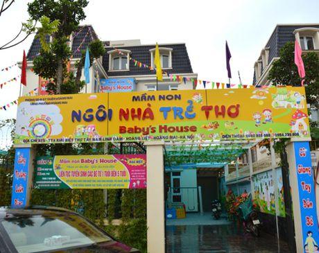 Truong mam non dung nuoc ban nau an tre chua giay phep hoat dong - Anh 1
