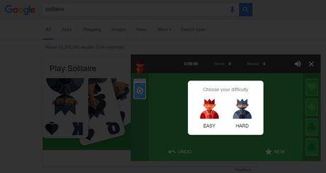 Choi bai Solitaire va co ca ro ngay tren Google - Anh 2