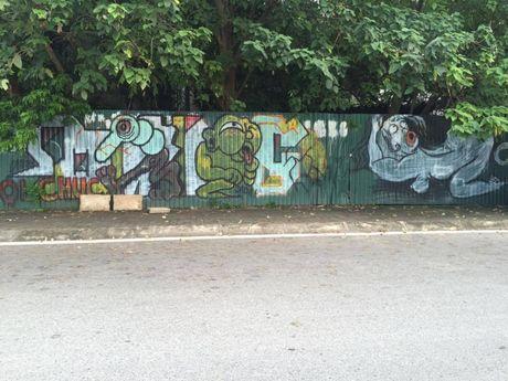 Ha Noi: Doc dao nhung con duong day mau sac nghe thuat Graffiti - Anh 5