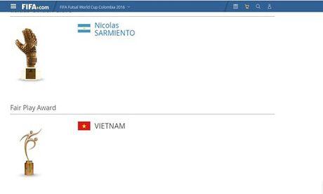 Futsal Viet Nam ghi diem bang giai Fair Play tai futsal World Cup - Anh 1