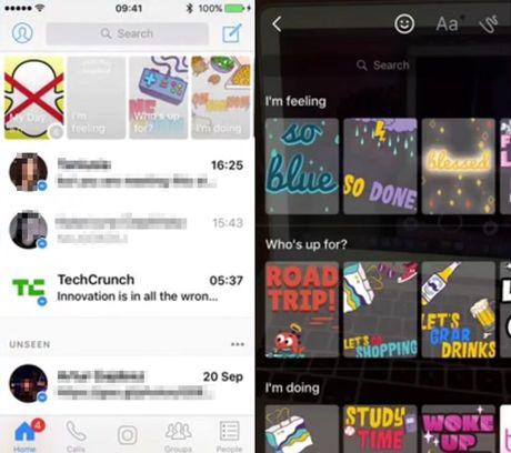 "Facebook vua ""vay muon"" Stories cua Snapchat de tao ra Messenger Day - Anh 1"