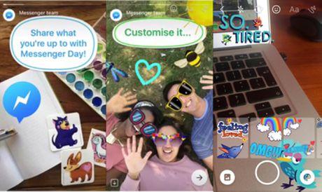 "Facebook vua ""vay muon"" Stories cua Snapchat de tao ra Messenger Day - Anh 2"