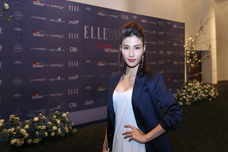 'Ban gai Cuong Dola', Ha Vi an tuong tren tham do 'Elle Show 2016' - Anh 4