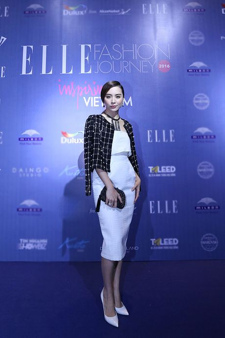'Ban gai Cuong Dola', Ha Vi an tuong tren tham do 'Elle Show 2016' - Anh 5