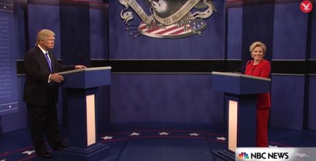 Man tung hung cua Trump va Hillary 'gia' trong chuong trinh hai - Anh 1