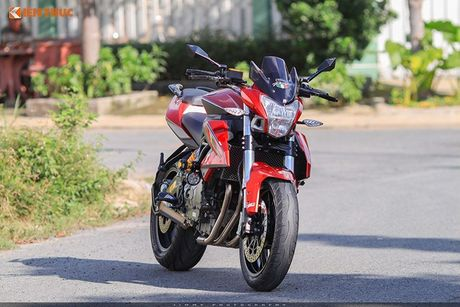 Moto PKL 'tau' Benelli BN600i do do choi hieu tai Sai Gon - Anh 12