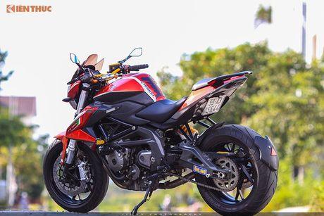 Moto PKL 'tau' Benelli BN600i do do choi hieu tai Sai Gon - Anh 2