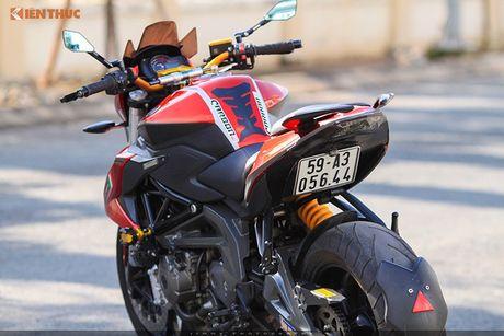 Moto PKL 'tau' Benelli BN600i do do choi hieu tai Sai Gon - Anh 8