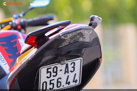 Moto PKL 'tau' Benelli BN600i do do choi hieu tai Sai Gon - Anh 9