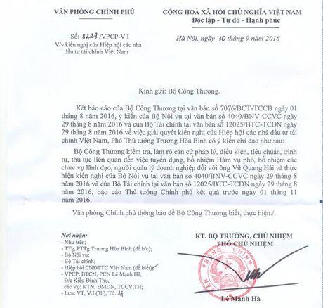 Chinh phu tiep tuc yeu cau Bo Cong Thuong bao cao vu Vu Quang Hai - Anh 1