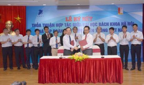 DH Bach khoa Ha Noi, VNPT hop tac chien luoc tren 4 linh vuc - Anh 1