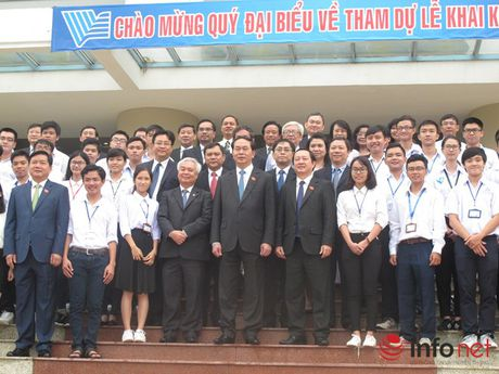 Chu tich nuoc Tran Dai Quang du Le khai khoa cua Dai hoc Quoc gia TP.HCM - Anh 2