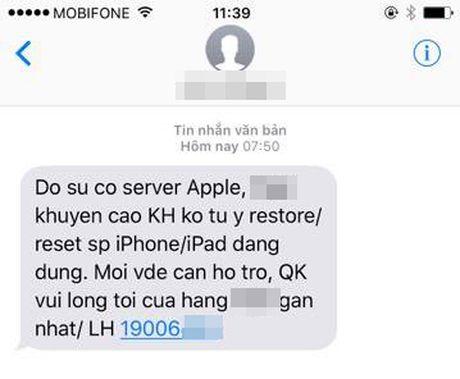 Can than khi cai dat lai iPhone o Viet Nam keo bi khoa may - Anh 1