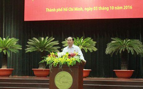 Chu tich nuoc gap go doanh nghiep, doanh nhan TP HCM - Anh 1