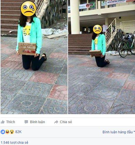 Nu sinh Nong nghiep quy giua truong xin loi vi phan boi ban trai - Anh 1