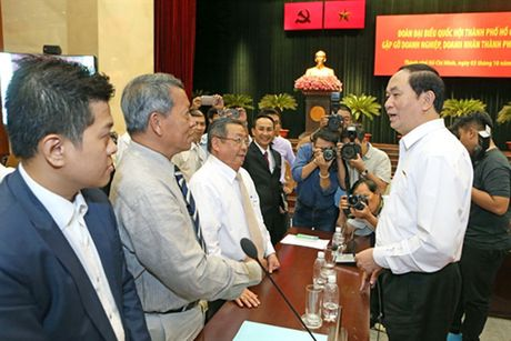 Chu tich nuoc Tran Dai Quang: Doanh nhan phai vung chac, tiep tuc giu TP.HCM o vi the dau tau - Anh 5