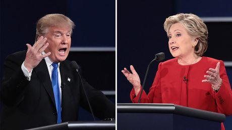 Ba Clinton gianh uu the sau cuoc tranh luan dau tien - Anh 1