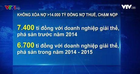 Khong xoa no hon 14.000 ty VND no thue voi DN giai the, pha san - Anh 1