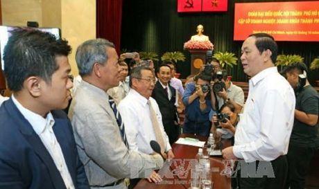 Chu tich nuoc mong doanh nhan phai la 'nhung nguoi linh tien phong' - Anh 1