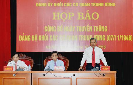 Cong bo Ngay truyen thong Dang bo Khoi cac co quan Trung uong - Anh 1