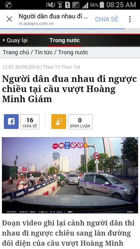 """Xu ly vu """"di nguoc chieu tap the"""" phan anh tren facebook - Anh 1"""
