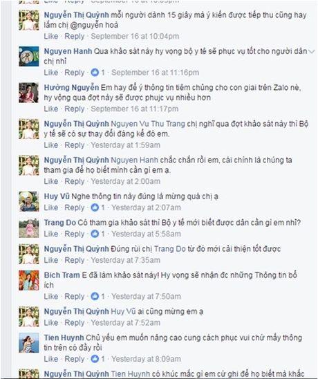 4.000 luot nguoi tham gia khao sat, lay y kien cua Bo Y te qua Zalo - Anh 2