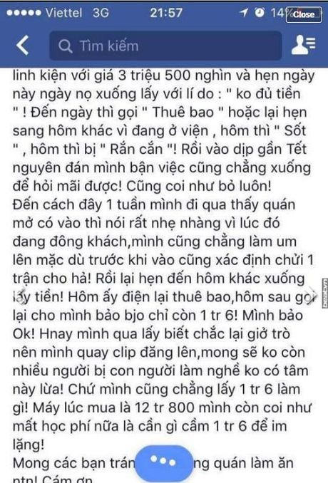 Chu cua hang dien thoai khat hen iPhone 6 cua khach hang hon 1 nam khong chiu tra - Anh 1