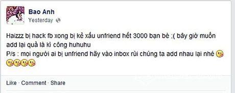 Hoa hau Pham Huong bi hacker tan cong facebook ca nhan - Anh 2
