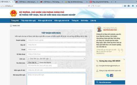 Lan dau Chinh phu tuong tac online voi doanh nghiep - Anh 1