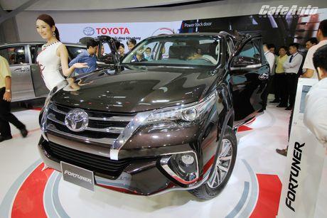Toyota Fortuner 2017 bat ngo ra mat tai trien lam Vietnam Motor Show 2016 - Anh 2