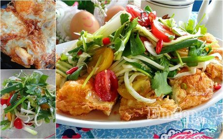 Lam salad xoai trung chien cho nguoi an kieng - Anh 1