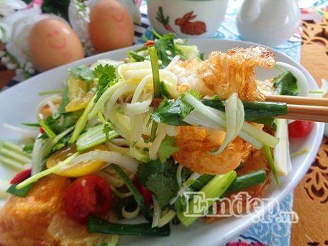 Lam salad xoai trung chien cho nguoi an kieng - Anh 5