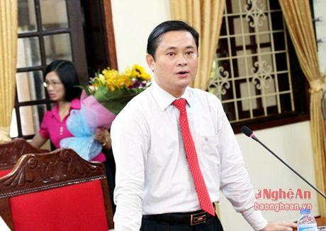 Bi thu huyen uy Nam Dan duoc bo nhiem lam Chanh Van phong Tinh uy Nghe An - Anh 2