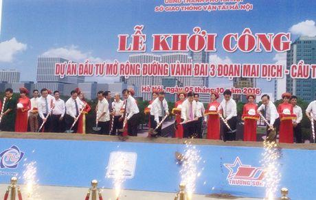 Khoi cong mo rong 5,5km duong Vanh dai 3 Ha Noi - Anh 1