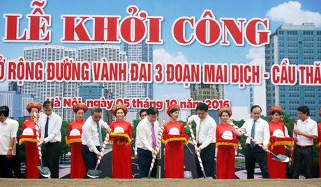 Khoi cong du an duong Vanh dai 3 doan Mai Dich – cau Thang Long, tong muc dau tu hon 3.000 ty dong - Anh 1
