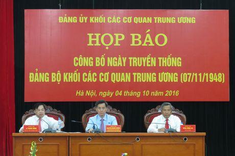 Ngay 7/11 la ngay truyen thong cua Dang bo Khoi cac co quan Trung uong - Anh 1