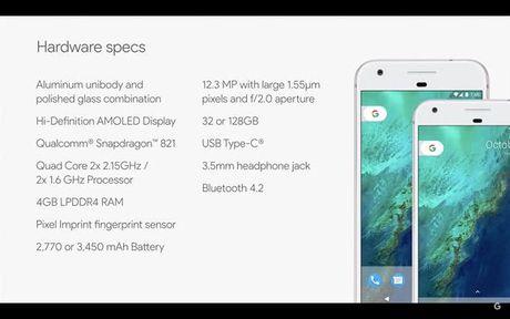 Google ra mat Pixel va Pixel XL:5 inch va 5,5 inch, luu tru khong gioi han anh va video - Anh 3