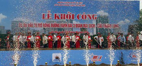 Ha Noi khoi cong tuyen duong hon 3.000 ty dong chong un tac giao thong - Anh 1